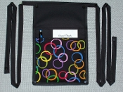 Rainbow Circles Pouch with Bands