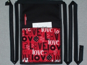 Red Hot Love Pouch with Bands