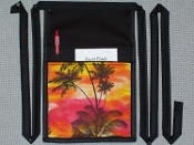 Sunset Palms Pouch with Bands